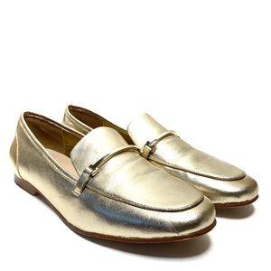 Aldo Astawia Leather Bit Loafer Gold Flat 9